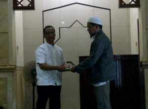 Serahterima Laporan dari Ketua Majelis Syuro dan Ketua DKM baru